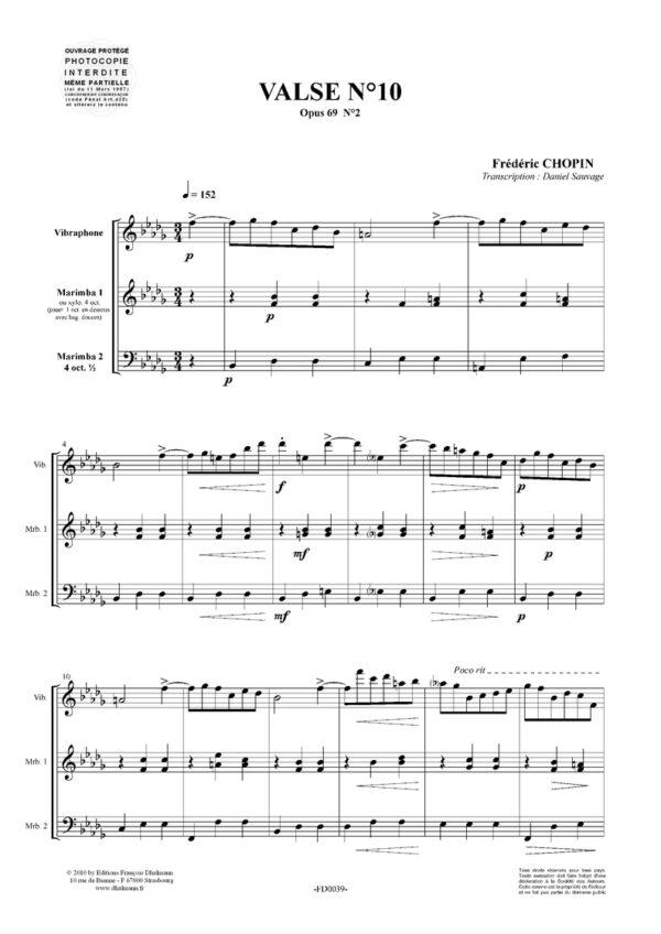 Valse N°10. Opus 69 N°2