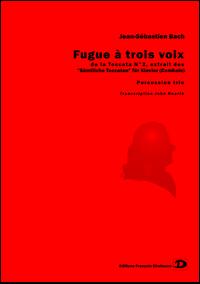 Fugue at three voices, from Toccata N° 2 by Johann-Sebastian Bach