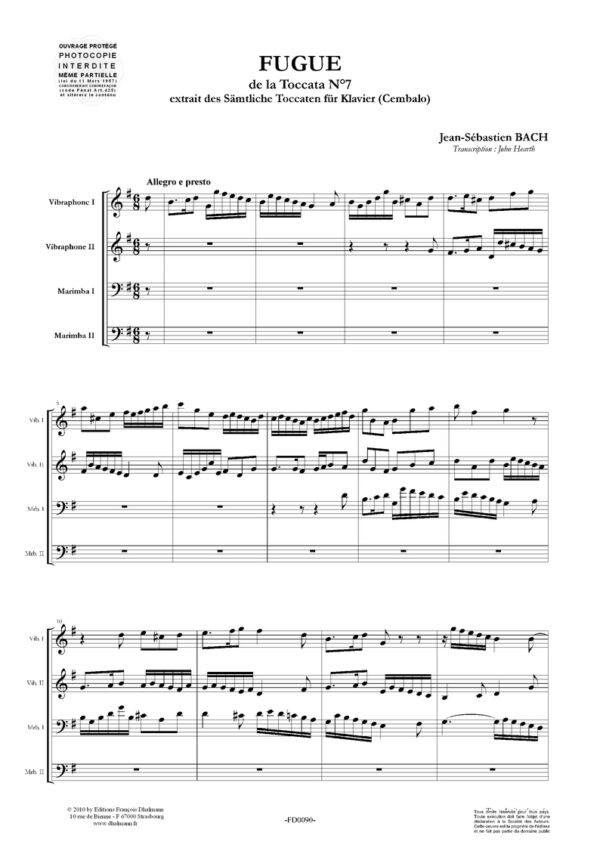 Fugue from toccata nr 7