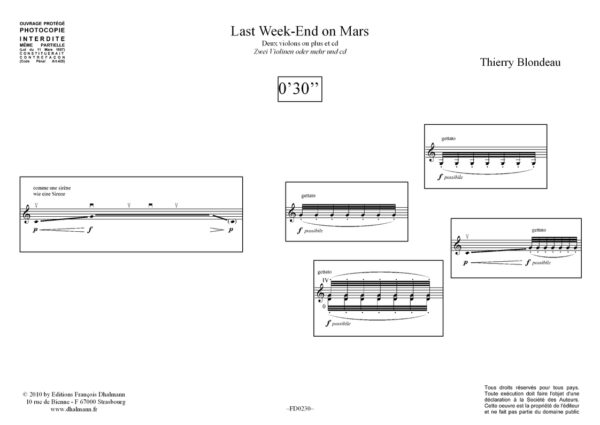 Last week-end on mars violon