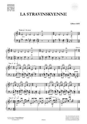 La Stravinskyenne by Gilbert Amy