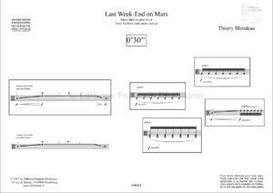 Last Week End on Mars. viola – Blondeau Thierry