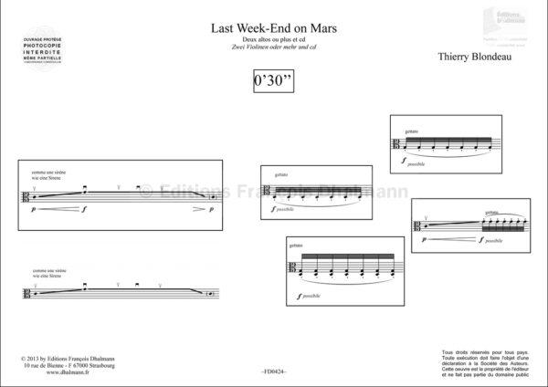 Last wek-end on Mars alto