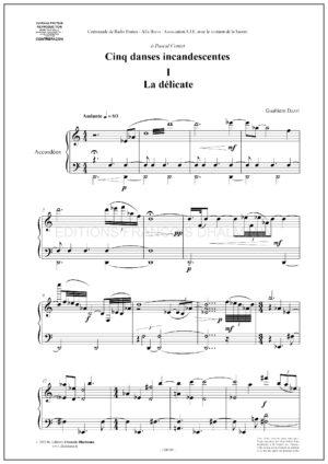 Cinq danses incandescentes by Gualtiero Dazzi
