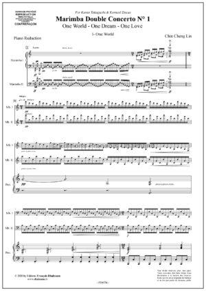 Double Marimba concerto N° 1. Piano reduction by Chin-Cheng Lin