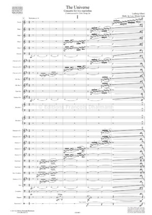 The Universe. Double concerto for two marimbas and wind orchestra by Ludwig Albert