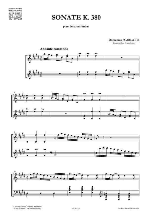 Sonate K. 380 en mi majeur