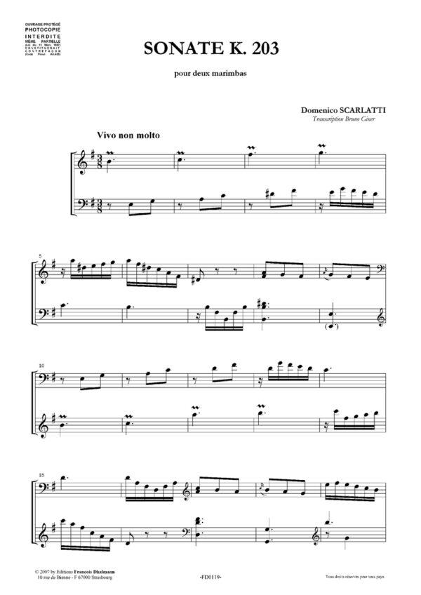 Sonate K. 203 en mi mineur