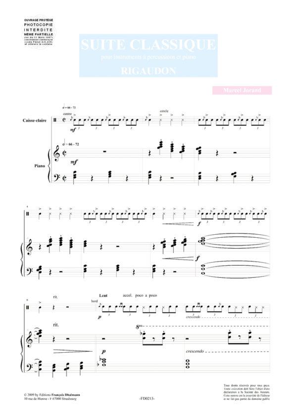 Suite Classique pour percussion et piano