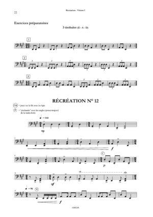 Récréations Vol.1. 12 études pour débuter les timbales – Daniel Sauvage