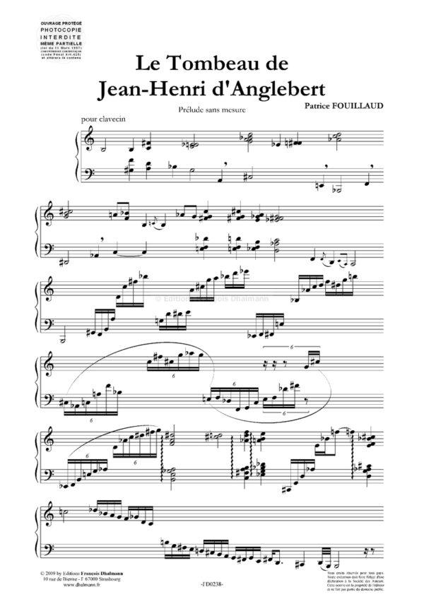 Le Tombeau de Jean-Henri d'Anglebert