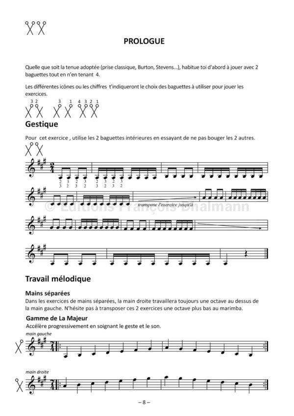 Les claviers de percussion de deux à quatre - Volume 1