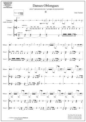 Danses Oblongues 1 à 4 – Eric Fischer