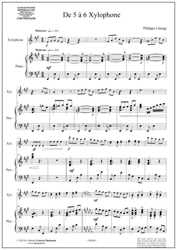 De 5 à 6 Xylophone de Philippe Limoge