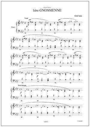 Gnossienne N°1 by Erik Satie. Digital sheet music
