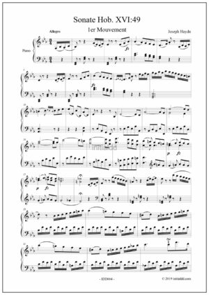 Sonate for piano Hob. XVI:49 first movement – J. Haydn