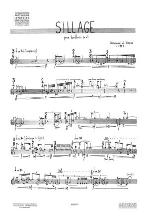 Sillage – De Vienne Bernard
