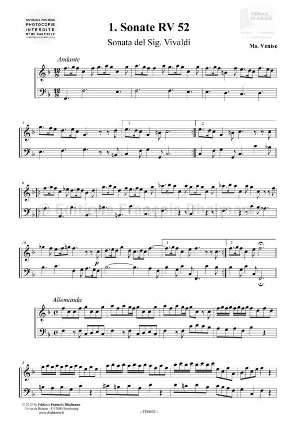 6 sonates pour flûte à bec
