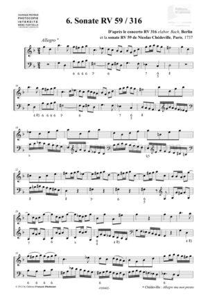6 sonates pour flûte à bec – Antonio Vivaldi